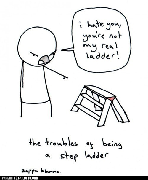 comic step father step ladder