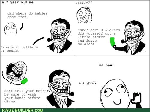 Babies,pooptimes,troll dad
