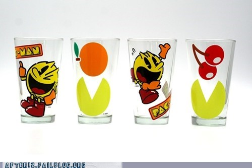 pac man,shot glasses,shots,sloshes swag