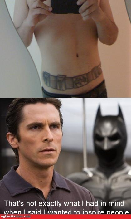 batman Stomach tattoos utility belt