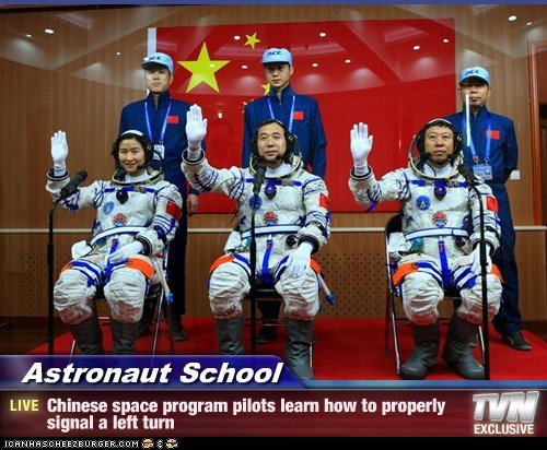 astronauts,China,left turn,school,training