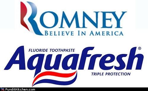 aquafresh campaign logo Mitt Romney toothpaste whitening - 6527463936