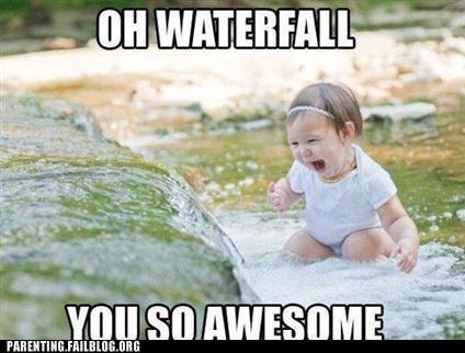 baby,waterfall