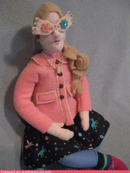 doll,felt,Harry Potter,luna lovegood
