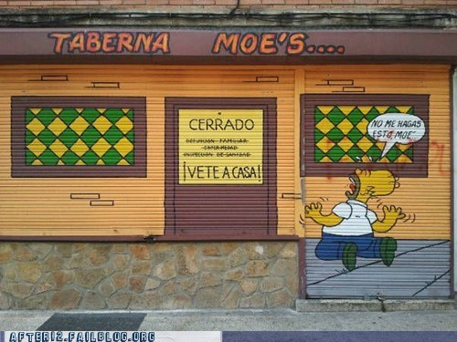 moe moes-tavern Spain taberna-moes the simpsons - 6527584768
