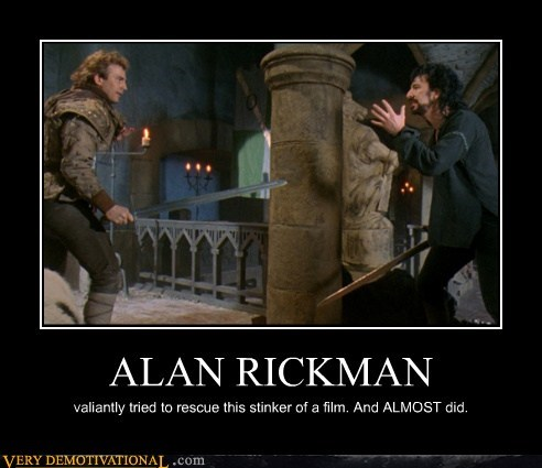 ALAN RICKMAN valiantly tried to rescue this stinker of a film. And ALMOST did.