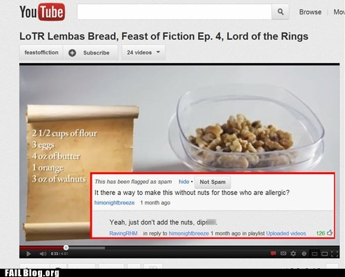 comment,nuts,recipe,youtube