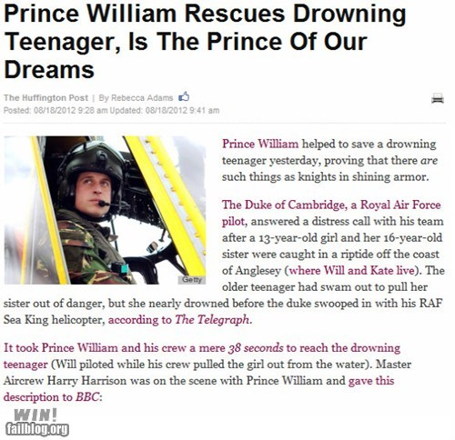 BAMF completely relevant news drowning news Prince Harry rescue