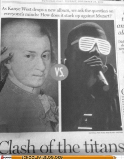 clash of the titans,kanye west,mozart