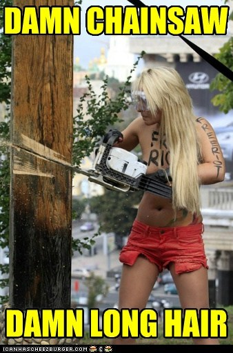 blocking censorship chainsaw damn free pussy riot frustrated long hair