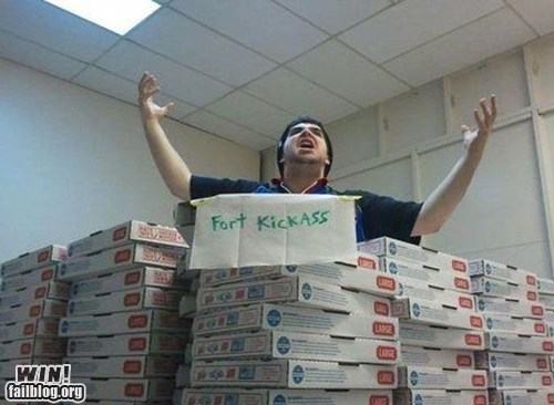 bored,fortress,pizza,work