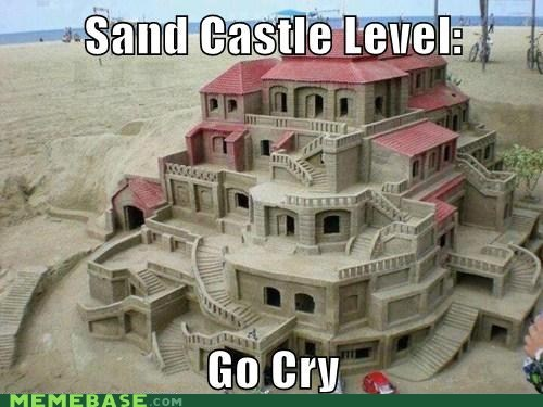 level,low,sand castle,tide