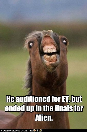 acting alien audition E.T finals horse scary