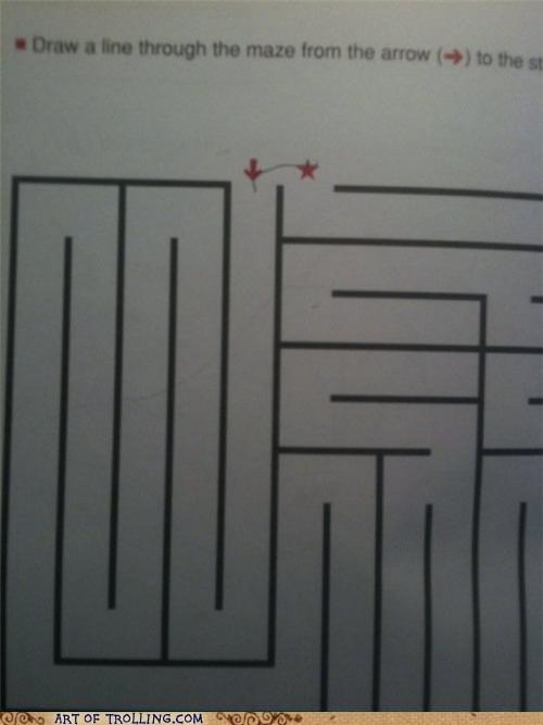 line,maze,truancy story