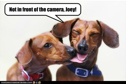 Not in front of the camera, Joey!