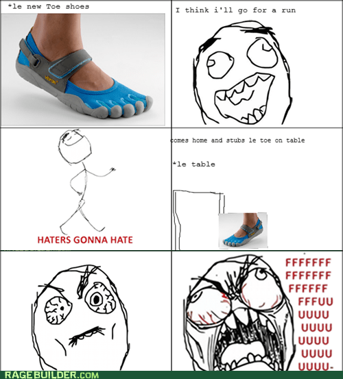 fu guy haters gonna hate toe shoes - 6528409856