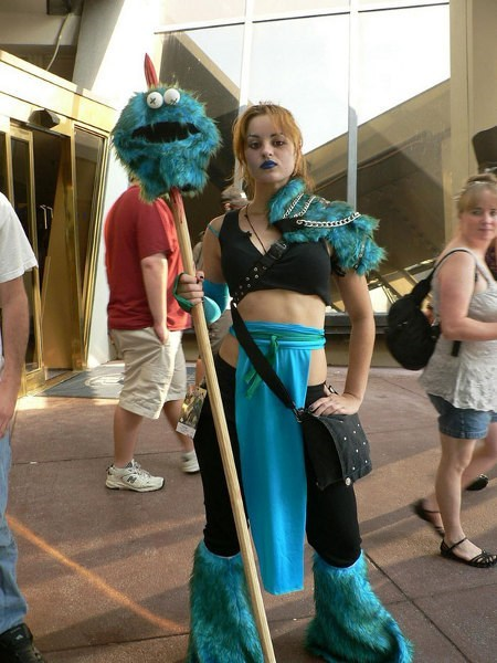 Cookie Monster,cosplay,Sesame Street,wtf