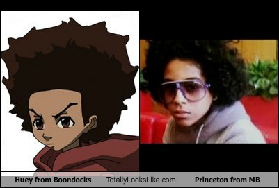huey from boondocks totally looks like princeton from mb totally