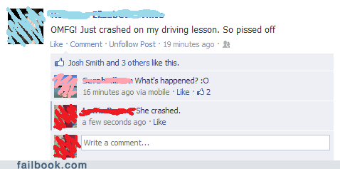 captain obvious,car accident,car crash,drivers-test,driving test