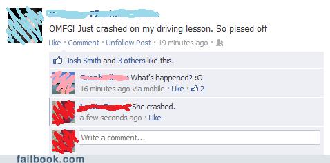 captain obvious car accident car crash drivers-test driving test - 6528781824