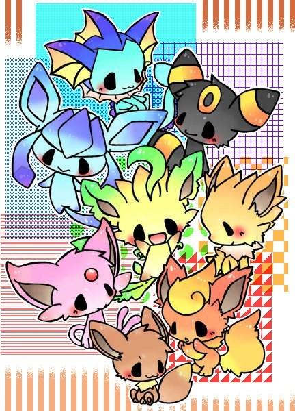 chibi,eeveelutions,Pokémon