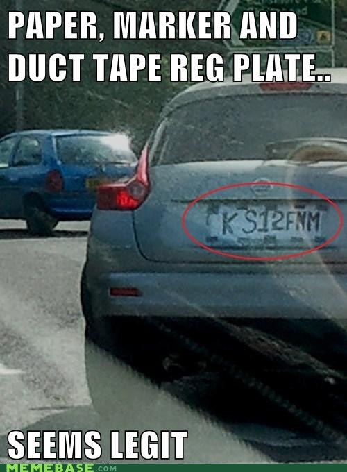 license plate,seems legit