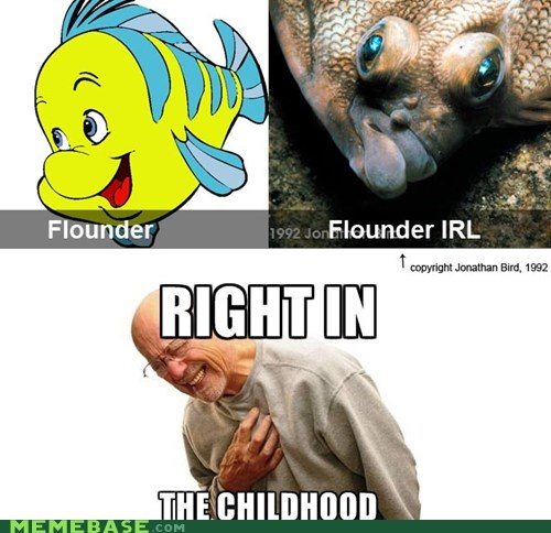 disney,flounder,right in the childhood