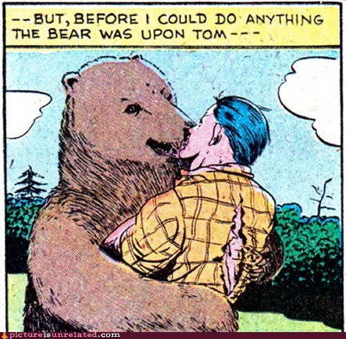 bears hugs kissing out of context wtf