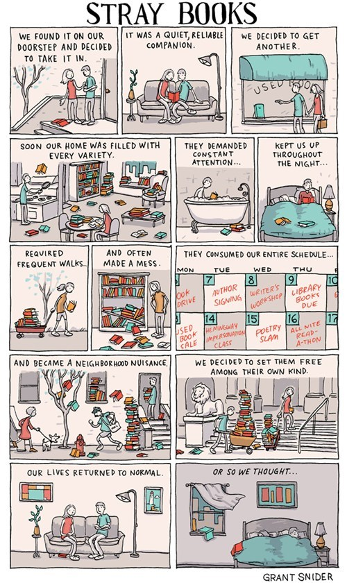 books,Incidental Comics,never escape,reading