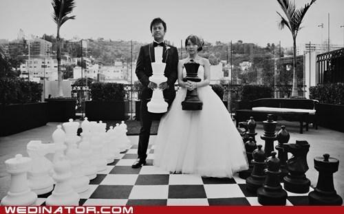 bride chess funny wedding photos groom - 6529379840