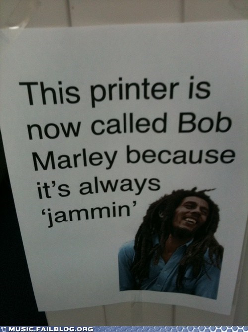 bob marley,jamming,printer