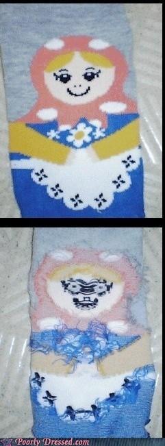 creepy sock - 6529527296