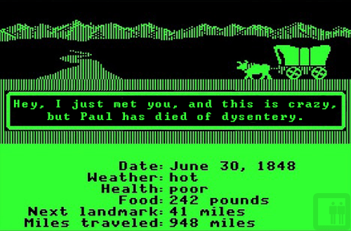 call me maybe,dysentery,oregon trail