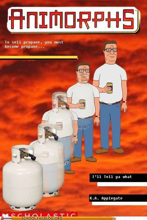 animorphs,bargain books,king of the kill,propane