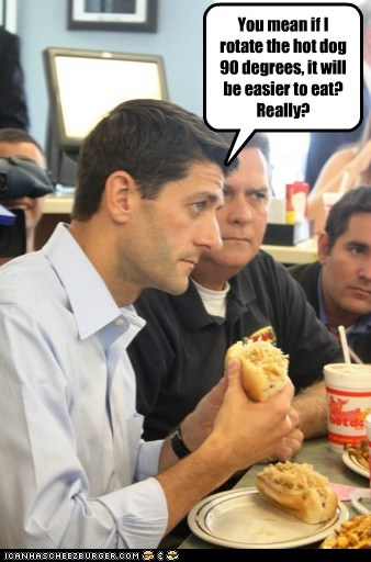 easier eating hot dog paul ryan really rotate - 6529620992