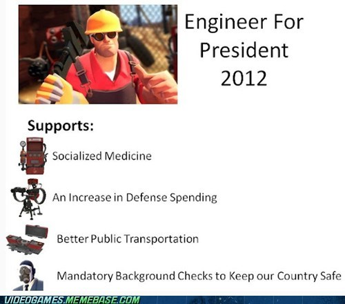 engineer PC politics president TF2 - 6529625856