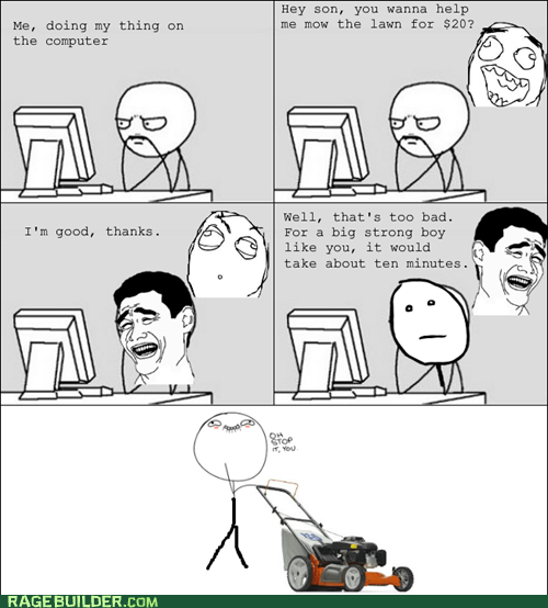 mowing oh stop it you parenting - 6529666048