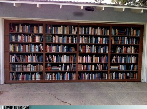 bookcase garage illusion