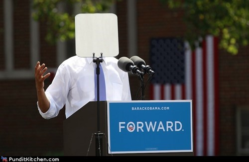 barack obama blocking campaign election 2012 oops teleprompter