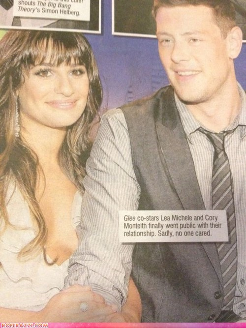 actor celeb cory monteith funny glee Lea Michele news - 6529750016