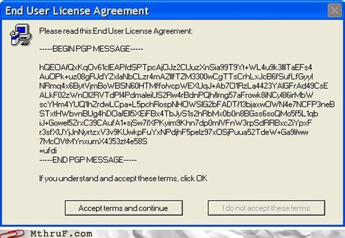 EULA installer license agreement program terms and conditions update