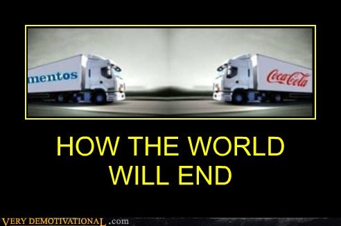 coke crash mentos trucks