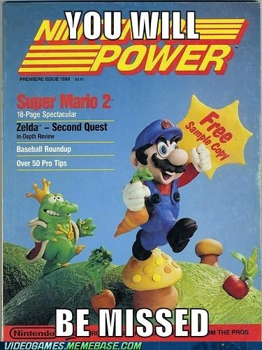 missed,nintendo power,rip,Sad