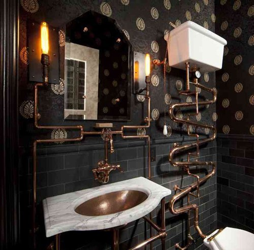 architecture,bathroom,Steampunk