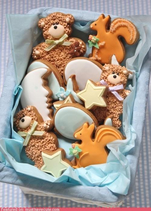 cookies eggs squirrel stars teddy bears - 6530088704