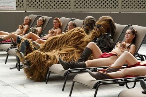 chewbacca cosplay slave leia star wars - 6530132992