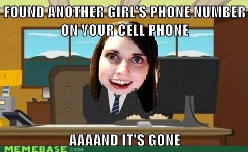 and-its-gone,girl,overly attached girlfrien,overly attached girlfriend,phone number