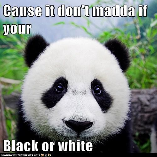 Cause it don't madda if your  Black or white