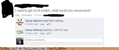 facebook quiznos Subway - 6531024640