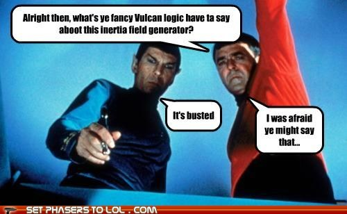 Star Trek Spock Leonard Nimoy james doohan Vulcan logic generator busted scotty - 6531318784
